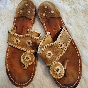 Jack Roger's suede flip flops thongs sandals